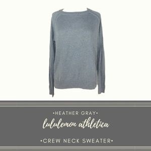 Lululemon Athletica Gray CrewNeck Slit Hem Sweater